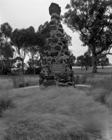 Burke and Wills Monument, Macarthur Road. Silver gelatin photograph