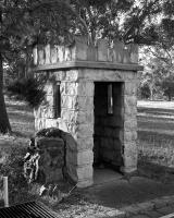 Sentry Box, Brens Drive. Silver gelatin photograph